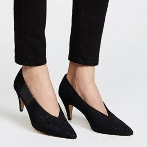 Free People NWT Black Florence Glitter Pumps 8